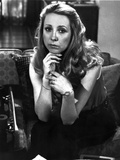 Teri Garr Seated in Black and White Photo by  Movie Star News