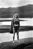 Helen Slater Posed in Super Woman Costume Photo by  Movie Star News