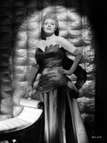 Shelley Winters Posed in Black Silk Shoulder Dress and Gloves Photo by  Movie Star News