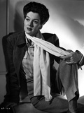 Rosalind Russell in Formal Outfit With Scarf Black and White Photo by  Movie Star News