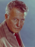 Ralph Bellamy in Formal Suit Close Up Portrait with Blue Background Photo by  Movie Star News