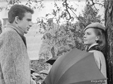 Splendor In The Grass Cast Members Couple Talking Scene Excerpt from Film in Black and White Photo by  Movie Star News