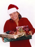 Queen Latifa with Christmas Gifts Photo by  Movie Star News