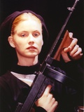 Tracy Needham With Rifle Close Up Portrait Photo by  Movie Star News