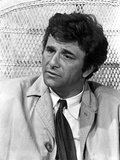 Peter Falk Looking Somewhere in Black and White Photo by  Movie Star News