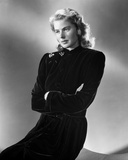 Ingrid Bergman in a Black Long Sleeve Dress and Arms Crossing on Chest Photo by E Bachrach