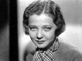 Sylvia Sidney in Printed Scarf and Textured Blouse Photo by  Movie Star News