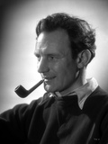 Trevor Howard in Black Shirt With Pipe on His Mouth Photo by  Movie Star News