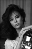 Rachel Ward Leaning Pose in Black and White Close Up Portrait Photo by  Movie Star News