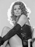 Sophia Loren wearing a Glittering Strapless Dress with Black Gloves Photo autor Movie Star News