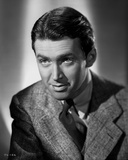 James Stewart Posed in Grey Corduroy Suit and Black Silk Necktie with Eyes Looking Up Photo by E Bachrach