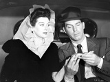 Rosalind Russell Couple Portrait Black and White Photo by  Movie Star News