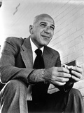 Telly Savalas Posed in Black Suit Photo by  Movie Star News