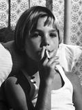 Tatum O'Neal Puffing Cigarette in Classic Photo by  Movie Star News