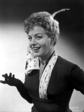 Shelley Winters Portrait in Black Shirt and White Polka Dot Scarf Photo by  Movie Star News