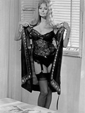 Sophia Loren Stripping Her Black Robe in a Portrait Photo autor Movie Star News