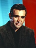 Sean Connery Posed in Plaid Coat Photo by  Movie Star News
