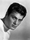 Tony Curtis Posed in White Shirt With Black Background Photo by  Movie Star News