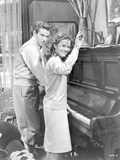 Splendor In The Grass Couple Playing Piano Scene Excerpt from Film in Black and White Photo by  Movie Star News