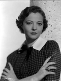 Sylvia Sidney Arms Crossed in Checkered Blouse Photo by  Movie Star News
