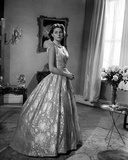 Ingrid Bergman wearing a Printed Ball Gown Photo by George Higgis