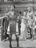 Quo Vadis Gladiator Taunting Scene Excerpt from Film in Black and White Photo by  Movie Star News
