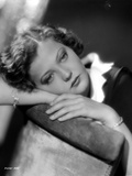 Sylvia Sidney Lying in a Black and White Blouse Photo by  Movie Star News