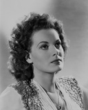 Maureen O'Hara Close Up Portrait On Side wearing Glittered Vest Photo by E Bachrach