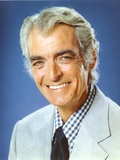 Rory Calhoun in Formal Suit Blue Background Portrait Photo by  Movie Star News