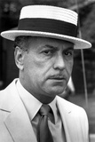 Alan Arkin Posed in White Suit With Hat Photo by  Movie Star News