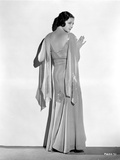 Sylvia Sidney Leaning on a White Wall in Gown Photo by  Movie Star News
