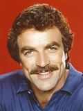 Tom Selleck in Blue Polo Shirt Close-up Portrait Photo by  Movie Star News