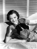 Sylvia Sidney in a Black Dress and Hand on Waist with Hat Photo by  Movie Star News