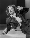 Katharine Hepburn in Black Dress Portrait Photo by E Bachrach