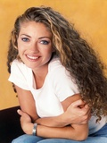 Rebecca Gayheart sitting and Leaning Pose Photo by  Movie Star News