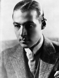 Rudolph Valentino Portrait in Coat in Black and White Photo by  Movie Star News