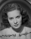 Maureen O'Hara Close Up Portrait wearing Floral Dress Photo by E Bachrach