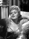 Shelley Winters on the Bed in Ruffled Lace Dress Photo by  Movie Star News