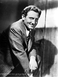 Spencer Tracy Cast Member Posed in Black and White Portrait wearing Formal Suit Photo by  Movie Star News