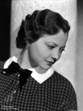 Sylvia Sidney wearing a Printed Blouse with Ribbon Photo by  Movie Star News