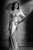 Frances Dee posed in A White Gown in Black and White Photo by  Movie Star News
