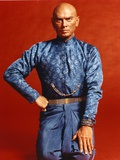 Yul Brynner Posed in Blue Glittery Top Photo by  Movie Star News