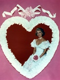 Phyllis Davis in Wedding Gown Heart Frame Photo by  Movie Star News