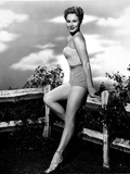 Virginia Mayo Leaning on Fence Photo by  Movie Star News