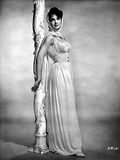Suzanne Pleshette wearing a Silk Gown and Leaning on Post Photo af Movie Star News