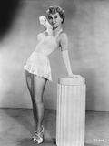 Virginia Mayo Posed in White Mini Dress Photo by  Movie Star News