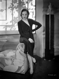 Talullah Bankhead on a Dress sitting on a Couch Photo by  Movie Star News