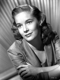 Vera Miles pictured in portrait with arms crossed, weraing a quartered sleeved blazer Photo by  Movie Star News