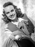 Terry Moore Seated and Leaning in Classic Photo by  Movie Star News