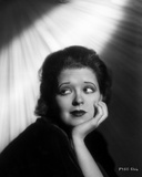 Clara Bow Head Leaning on Hand, wearing Black Dress Photo by Otto Dyar